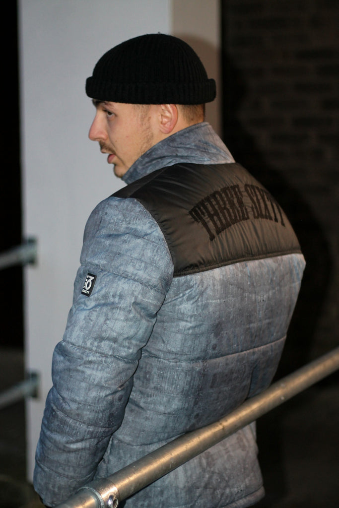 Signature Puffer Jacket (Cement & Black)