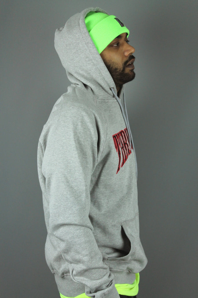 Arc Distressed P/O Hoodie (Heather Grey)