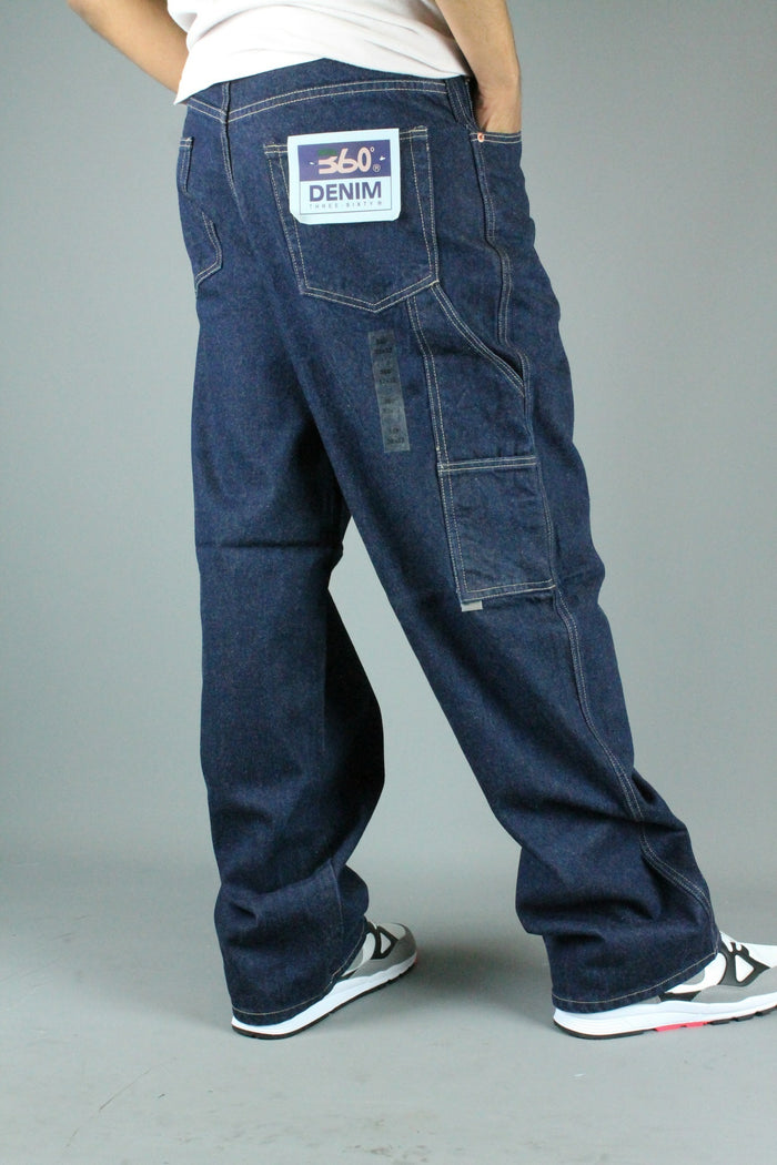 JA18 Carpenter Loose Fit Denim Jeans (Dark Blue Indigo)