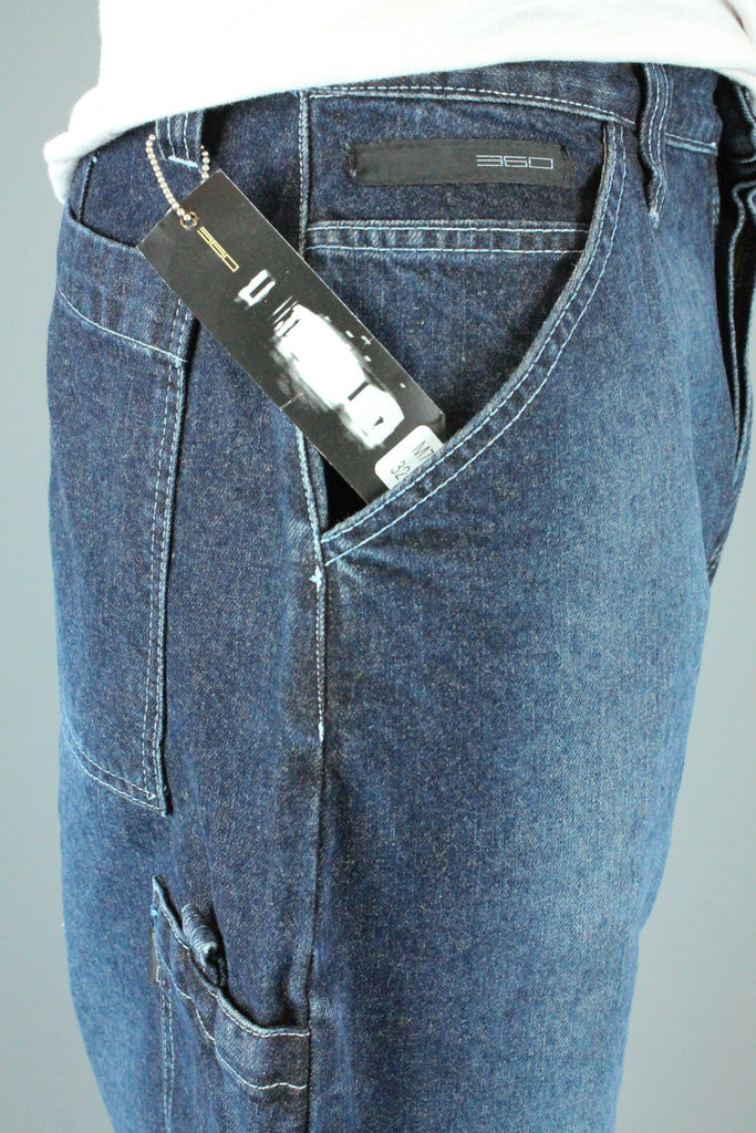 M720 Utility Loose Fit Denim Jeans (Faded Dark Washed Blue)