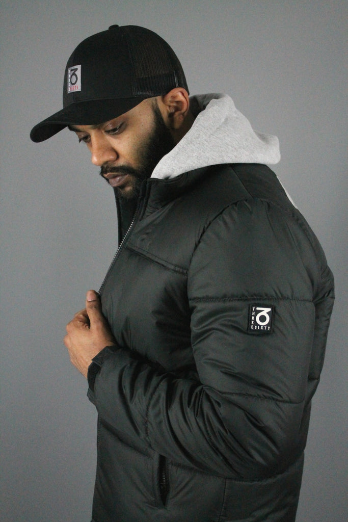 Signature Puffer Jacket (Black)