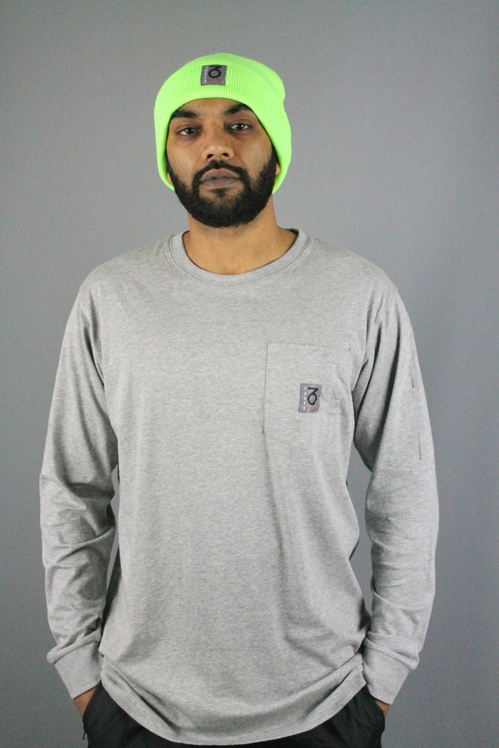 OG Pocket Longsleeve T-Shirt (Heather Grey)