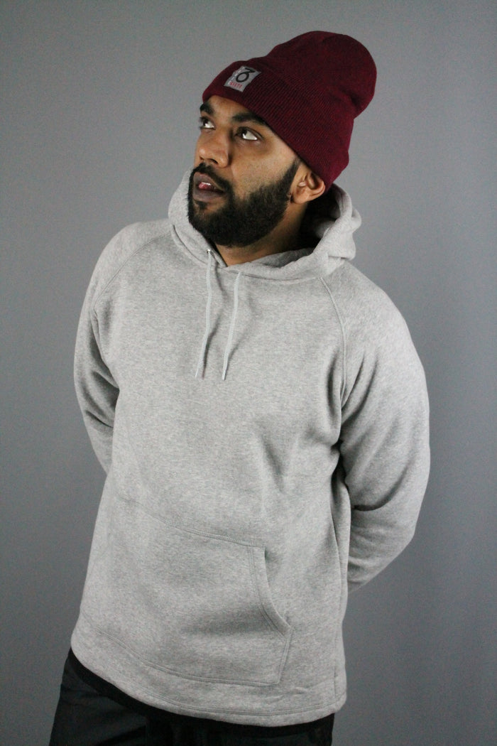 Essential Open Hem Hoody (Heather Grey)
