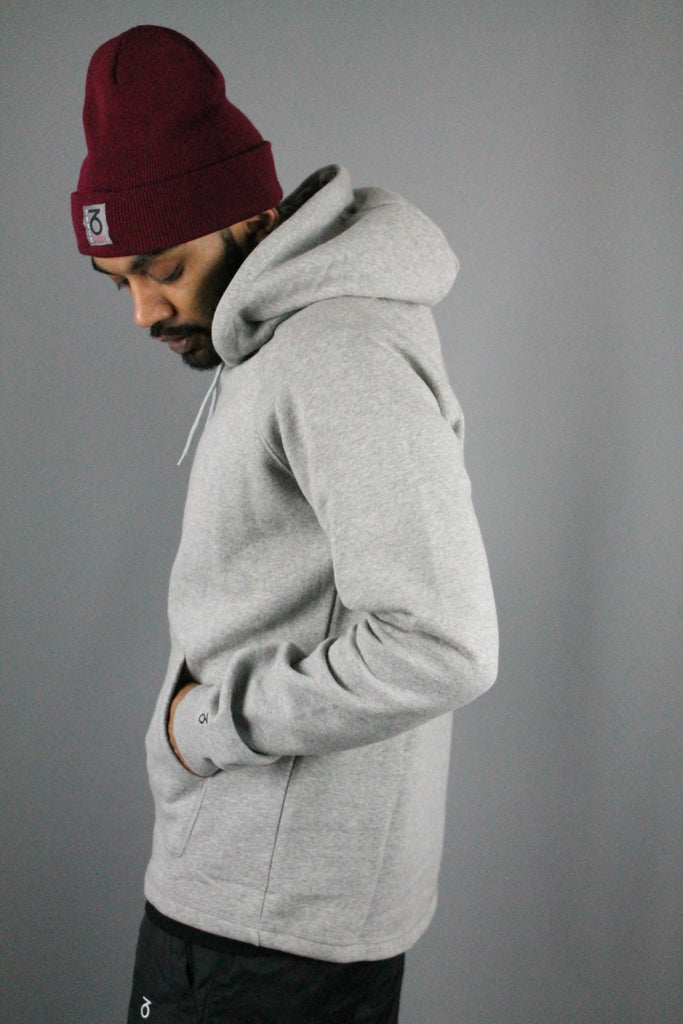 Essential Open Hem Hoodie (Heather Grey)