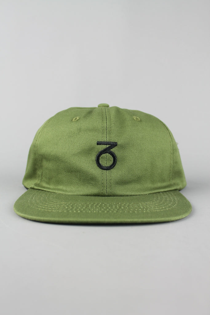 Core Logo Unstructured 6-Panel Cap (Olive)