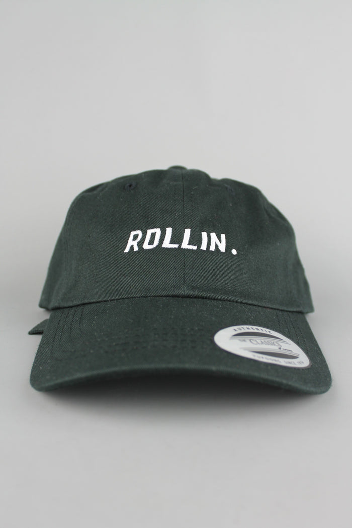 ROLLIN® 6-Panel Baseball Cap (Black)