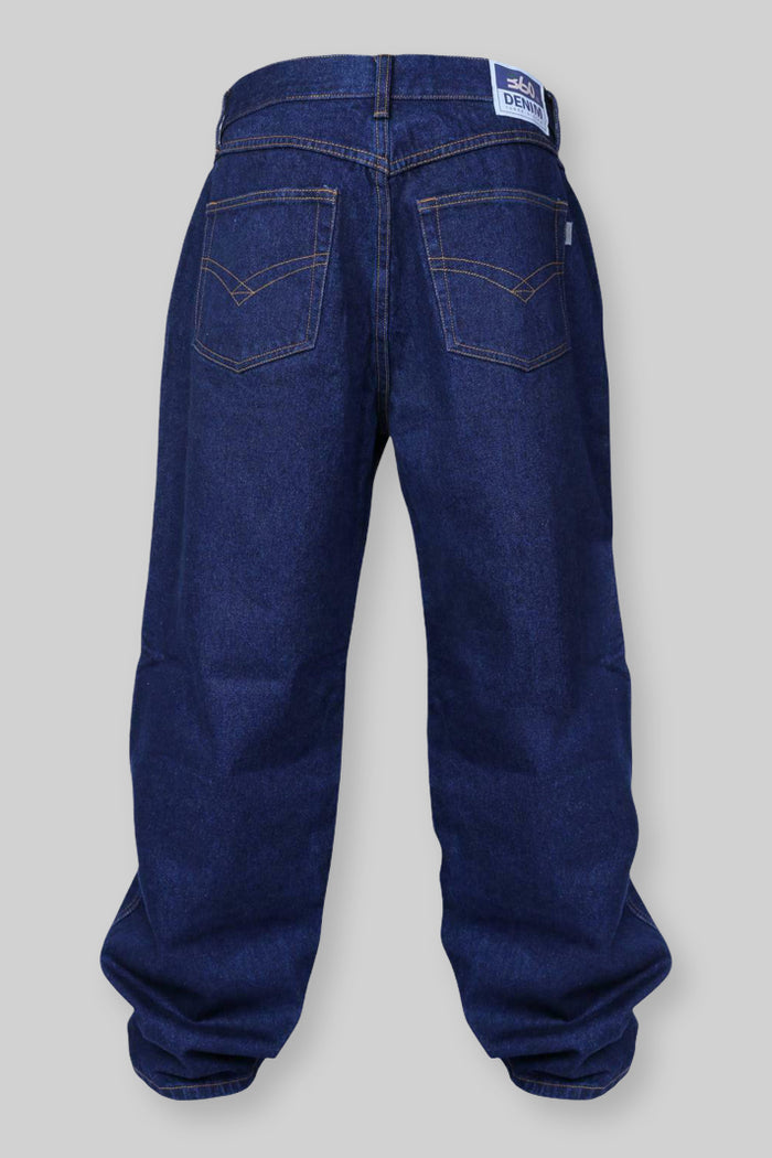 DK17 Loose Fit Denim Jeans (Dark Indigo)