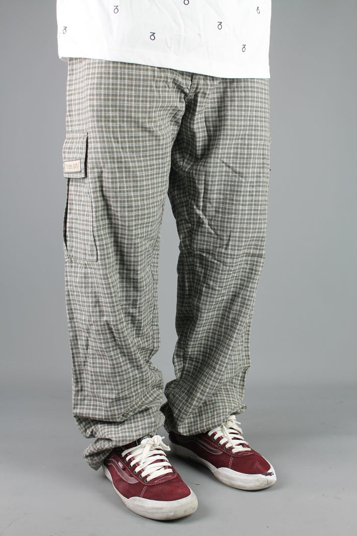 M700 Plaid Cargo Surf Beach Pants (Olive/Khaki)