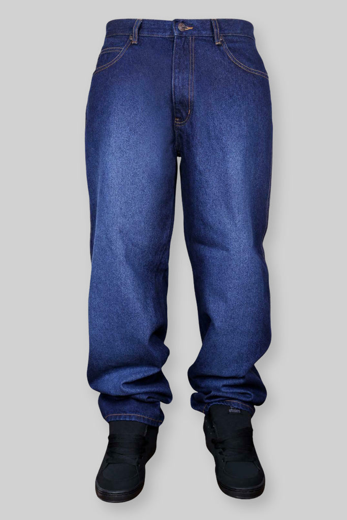 SB137 Loose Fit Denim Jeans (Faded Dark Indigo)