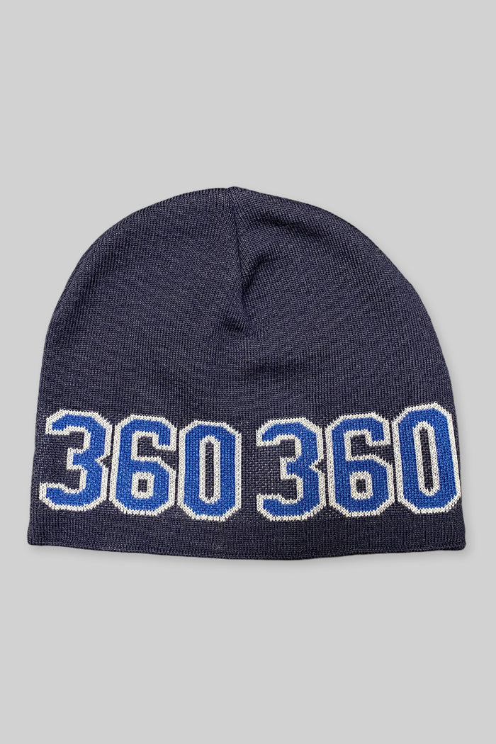 360 Wraparound Beanie (Navy Blue/Royal)