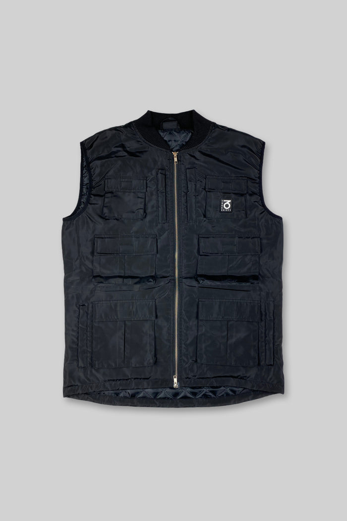 Tactical Nylon Workwear Vest (Black)
