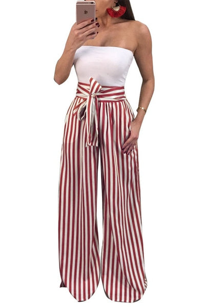 High Waist Drawstring Wide Leg Pants