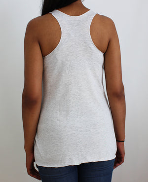 Drip Paw Racerback Heather White