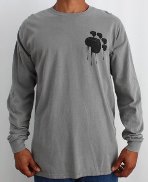 Paw Flag LS Grey