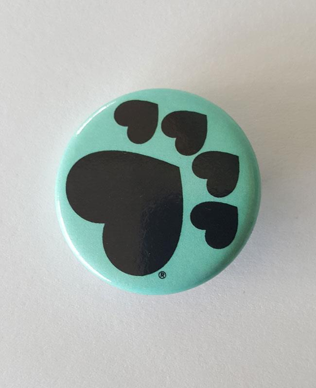 Mini Paw Button Teal