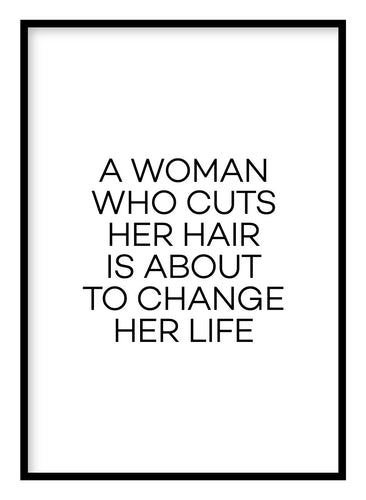 A Woman Who Cuts Her Hair Poster - Hidden Prints