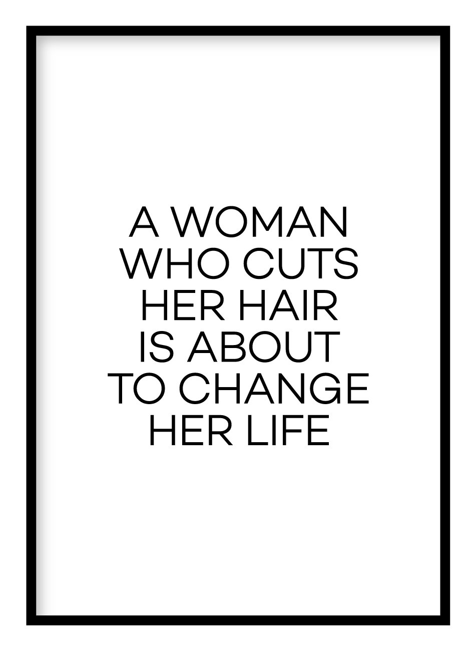 A Woman Who Cuts Her Hair Poster Hidden Prints