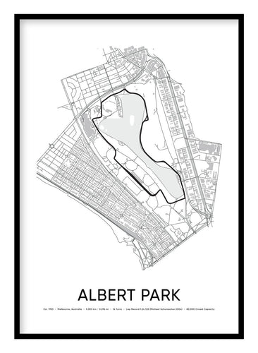 Albert Park Race Track Poster Hidden Prints