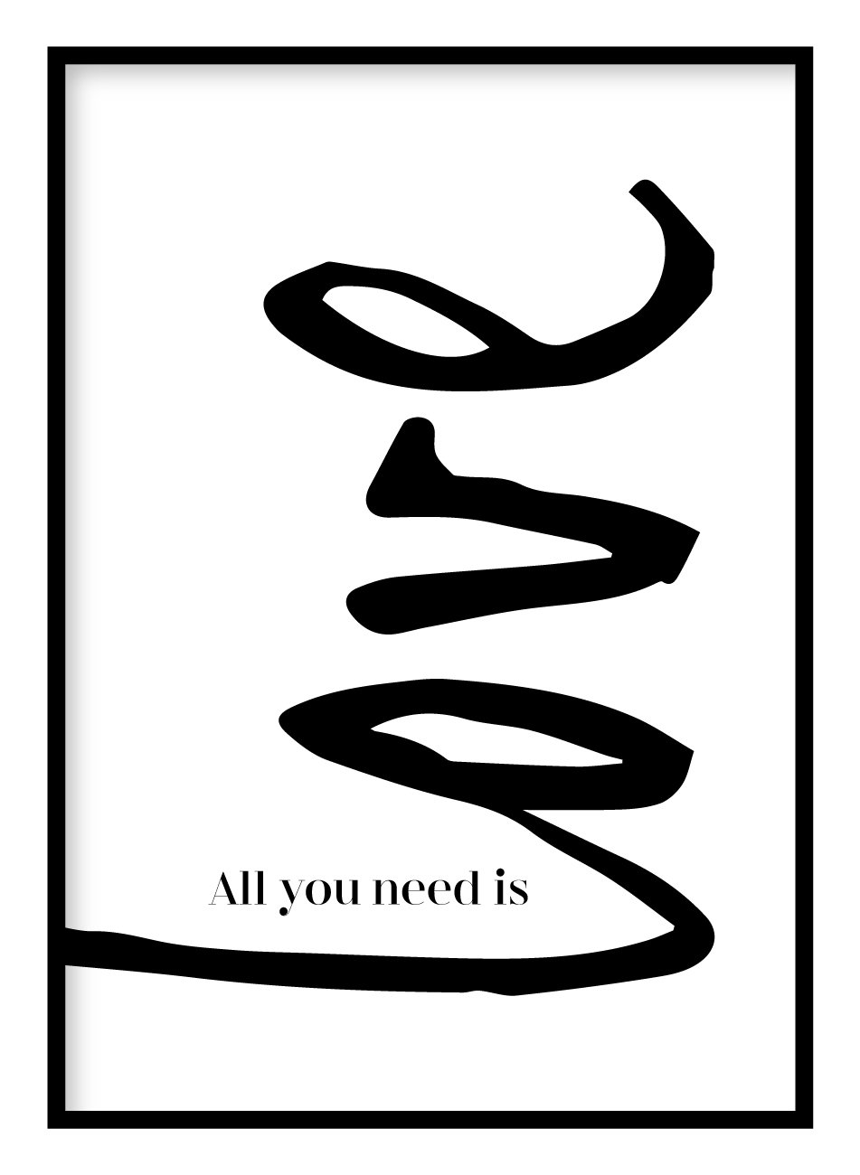 All You Need Is Love Poster - Hidden Prints