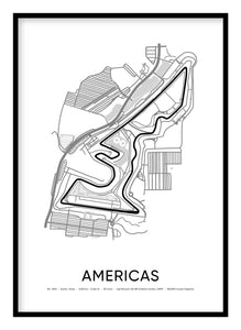 Americas Race Track Poster