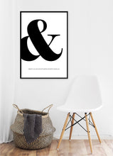 Load image into Gallery viewer, Ampersand Poster - Hidden Prints