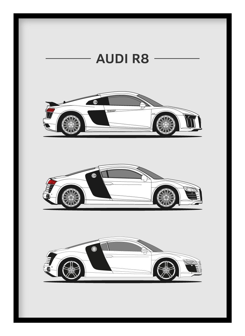 Audi R8 Poster Hidden Prints