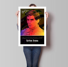Load image into Gallery viewer, Ayrton Senna Signed Poster