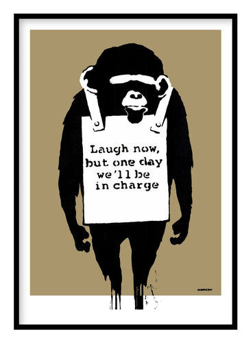Banksy Laugh Now Poster