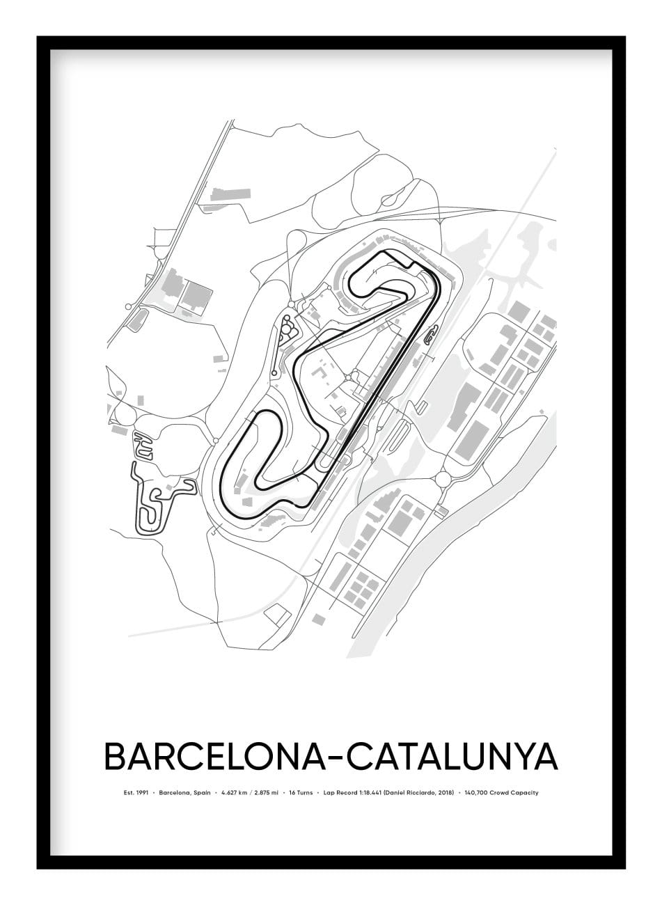 Barcelona Race Track Poster - Hidden Prints