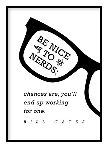 Be Nice To Nerds Poster