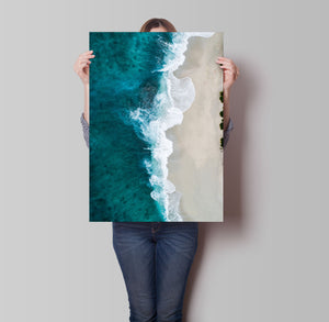 Beach Waves Poster - Hidden Prints