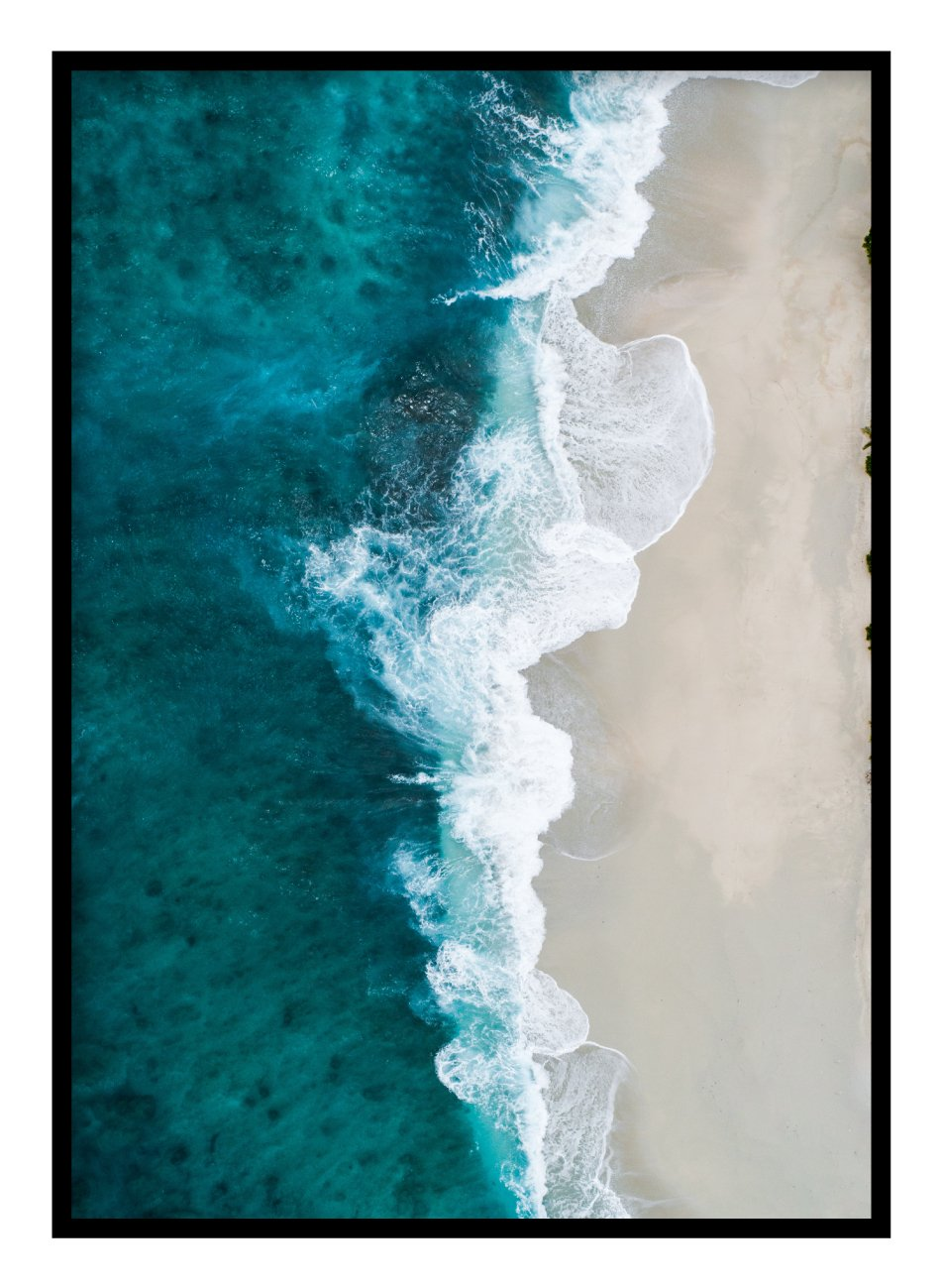 Beach Waves Poster