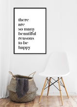 Load image into Gallery viewer, Beautiful Reasons To Be Happy Poster - Hidden Prints