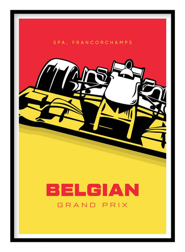 Belgian Grand Prix Poster Hidden Prints