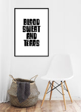 Load image into Gallery viewer, Blood Sweat And Tears Poster