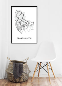 Brands Hatch Race Track Poster - Hidden Prints