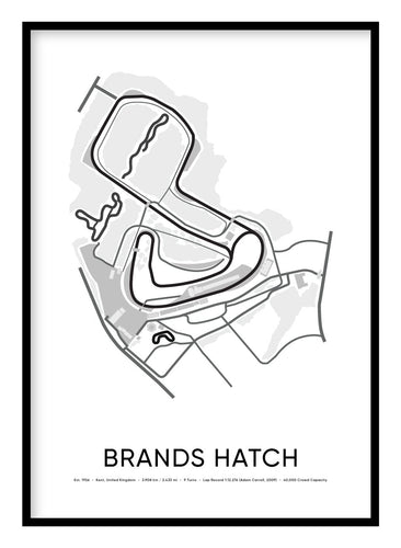 Brands Hatch Race Track Poster