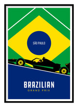 Load image into Gallery viewer, Brazilian Grand Prix F1 Poster