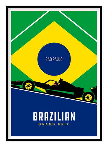 Brazilian Grand Prix F1 Poster Hidden Prints