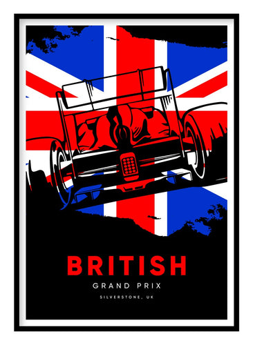 British Grand Prix Poster Hidden Prints