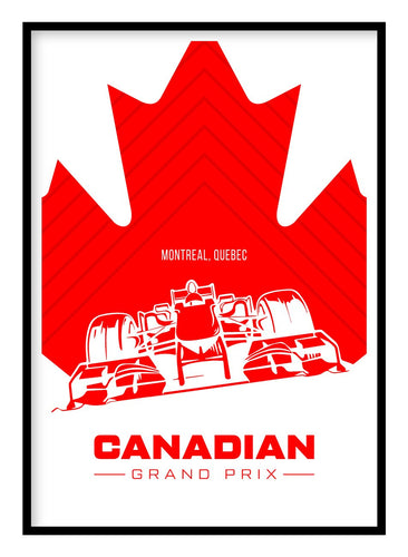 Canadian Grand Prix Poster Hidden Prints
