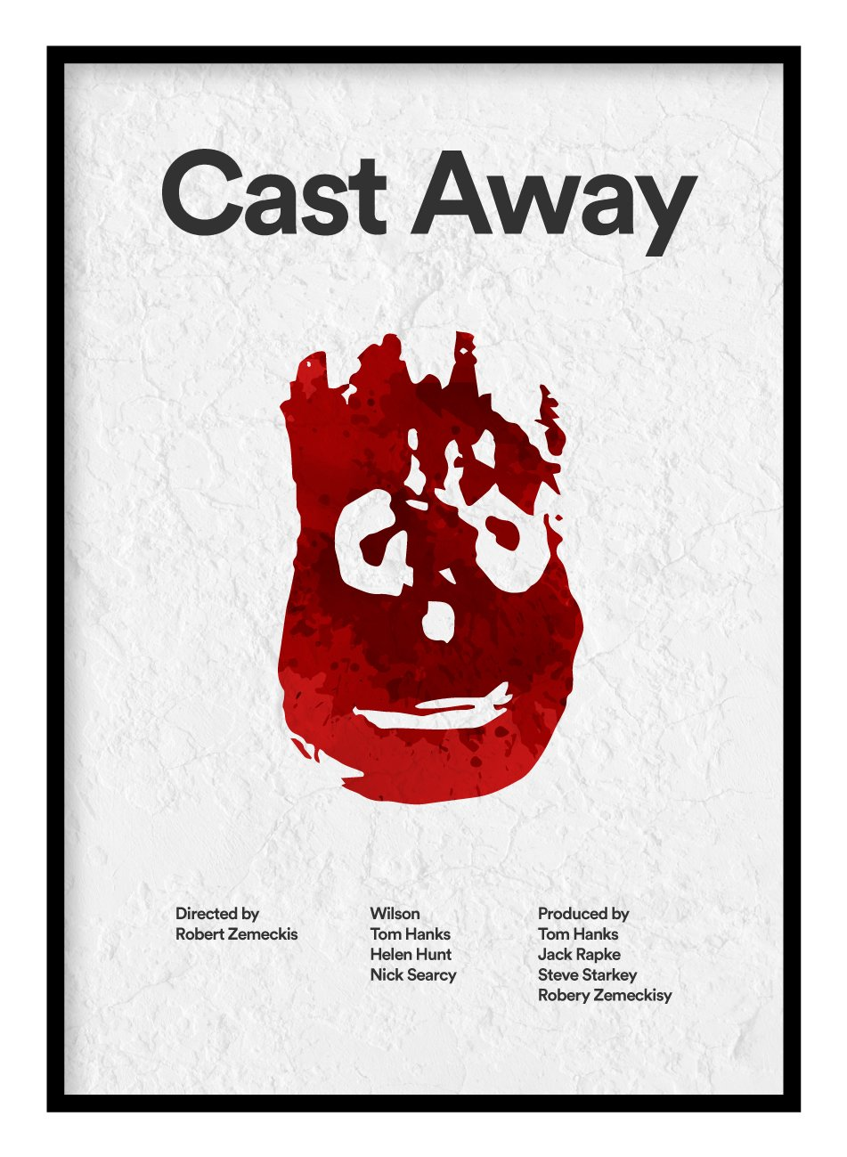 Cast Away Poster Hidden Prints