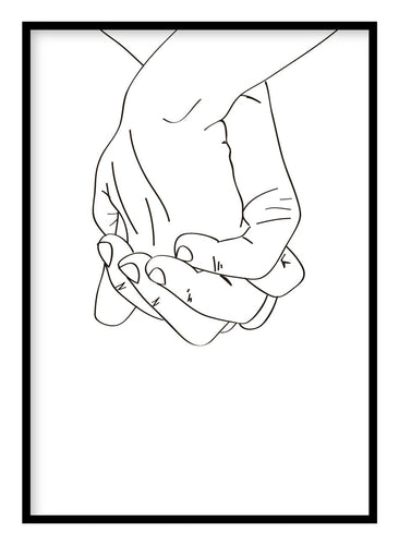 Clasped Hands Poster