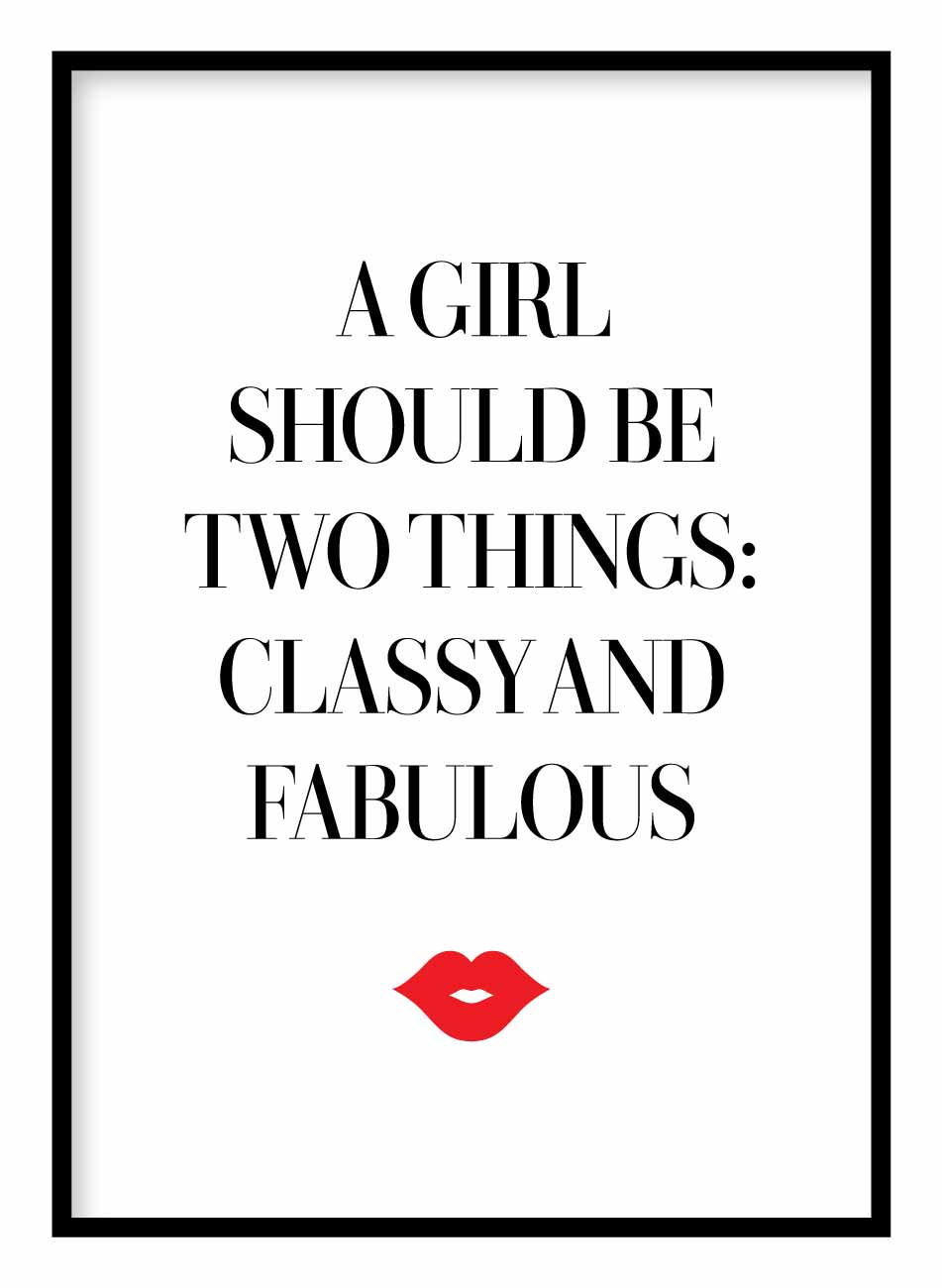 Classy & Fabulous Coco Chanel Poster Hidden Prints