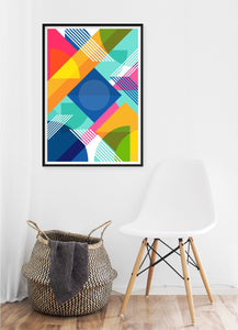 Colour Burst Poster - Hidden Prints