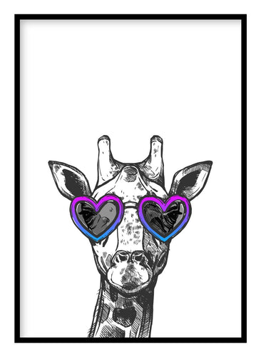 Cool Giraffe Poster - Hidden Prints