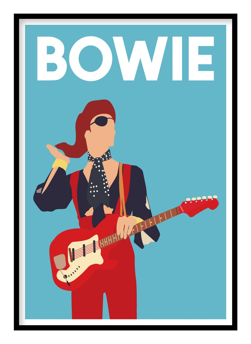 David Bowie Music Poster Hidden Prints