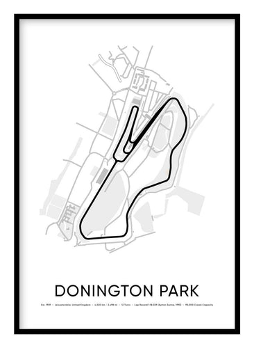 Donington Park Race Track Poster Hidden Prints