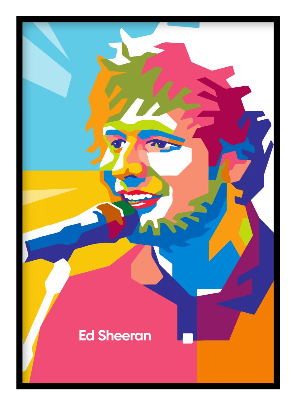 Ed Sheeran Music Poster Hidden Prints