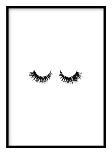 Eyelashes Poster Hidden Prints